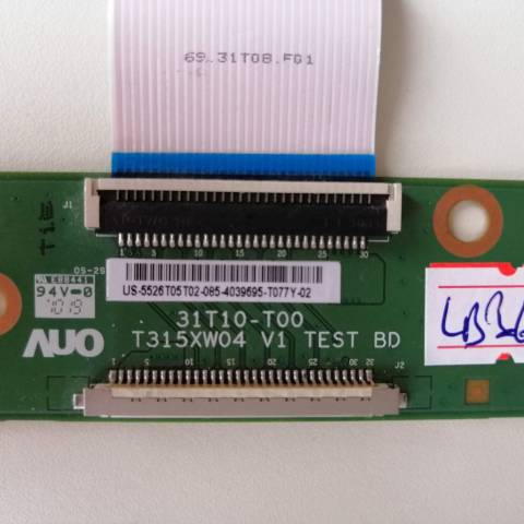 ARÇELİK TV 82-203 LCD TV T-CON KARTI / T-CON (LOGIC) BOARD FOR ARÇELİK LCD TV. BOARD NO.S 31T10-T00, T315XW04 V1, US-5526T05T02, 5526T05T02