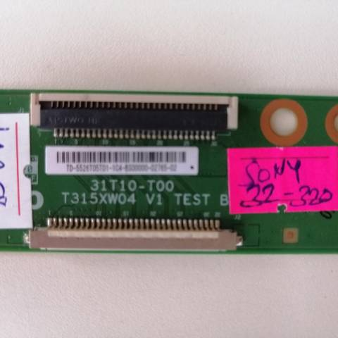 SONY BRAVIA KDL-32BX320 LCD TV T-CON KARTI / T-CON (LOGIC) BOARD FOR SONY LCD TV. BOARD NO.S 31T10-T00, T315XW04 V1, US-5526T05T01, 5526T05T01