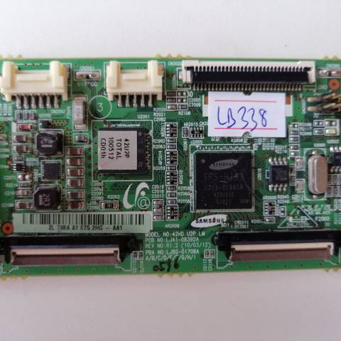 SAMSUNG PS42C430 PLAZMA TV LOGIC T-CON KARTI / LOGIC CONTROLLER BOARD FOR SAMSUNG PLASMA TV. BOARD NO.S LJ41-08392A, LJ92-01708A, 42HD U2P LM