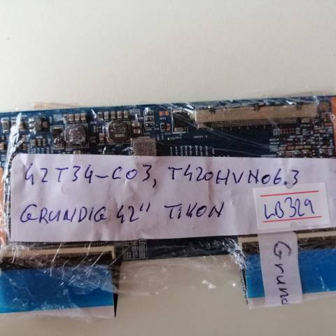 GRUNDIG 42 INCH LED TV T-CON KARTI / T-CON (LOGIC) BOARD FOR GRUNDIG - BEKO LED TV. BOARD NO.S 42T34-C03, T420HVN06.3, CTRL BD, TT-5555T23C07, 5555T23C07