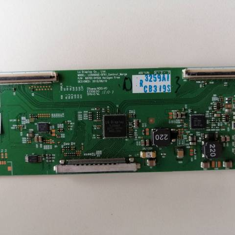 LG 32LN575S LED TV T-CON KARTI / T-CON (LOGIC) BOARD FOR LG LED TV. BOARD NO.S 6870C-0452A, 6871L-3259A, LC500DUE-SFR1, 3259A