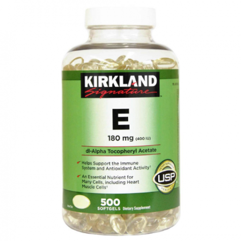 Kirkland Signature E 180 mg 500 Softgels