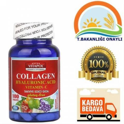 Vitapol Collagen Hyaluronic acid 100 kapsul