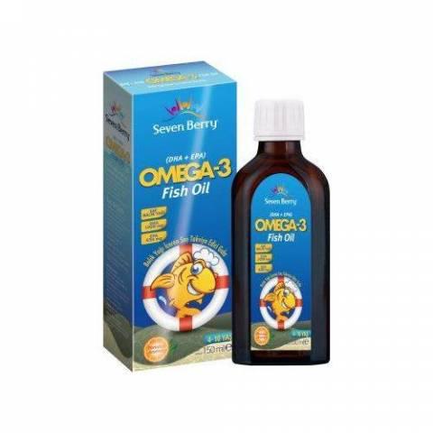 Seven Berry Omega 3 Balık Yağı Şurup Portakal Aromalı 150 Ml