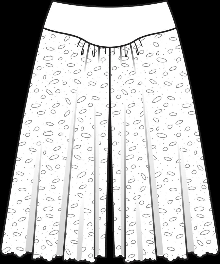 Сшить юбка брюки разных видов 3