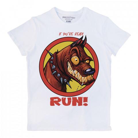 Ready To Run baskılı tasarım tişört. %100 pamuklu baskılı tişört. Presstish organik erkek tasarım baskılı tişört çeşitleri. Hediyelik tasarım tshirt. Tişört baskı.