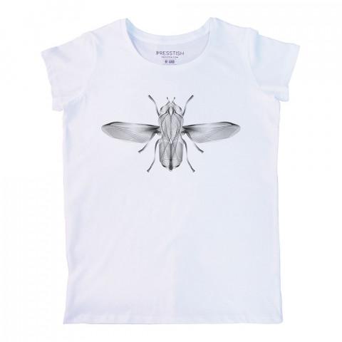 Surreal Flight baskılı tasarım tişört. %100 pamuk, baskılı bayan tişört. Presstish tasarım baskılı tişört çeşitleri. Hediyelik kadın tişört. Tişört baskı. Baskılı tshirt.