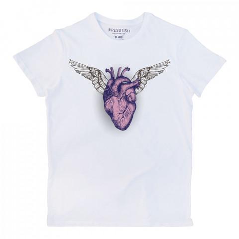 A Living Heart baskılı tasarım tişört. %100 pamuklu baskılı tişört. Presstish organik erkek tasarım baskılı tişört çeşitleri. Hediyelik tasarım tshirt. Tişört baskı.