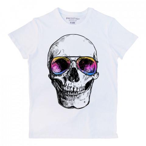 Bodrum Skull baskılı tasarım tişört. %100 pamuklu baskılı tişört. Presstish organik erkek tasarım baskılı tişört çeşitleri. Hediyelik tasarım tshirt. Tişört baskı.
