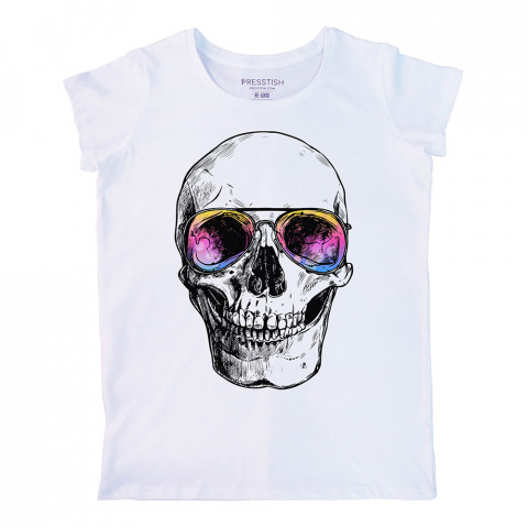 Bodrum Skull baskılı tasarım tişört. %100 pamuklu baskılı bayan tişört. Presstish tasarım baskılı tişört çeşitleri. Hediyelik kadın tişört. Tişört baskı. Baskılı tasarım tshirt.