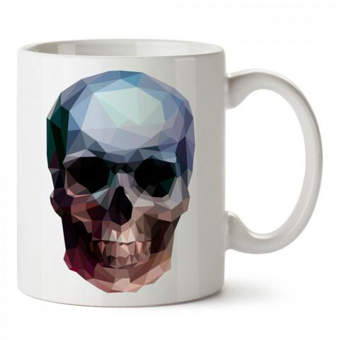 Crystal Skull kuru kafa tasarım baskılı porselen kupa bardak (mug). Presstish marka resimli hediyelik kupa bardak modeli. Tasarım kahve kupası. Baskılı mug.
