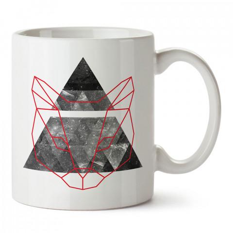 Space Robocat kedili tasarım baskılı porselen kupa bardak (mug). Presstish marka resimli hediyelik kupa bardak modeli. Tasarım kahve kupası. Baskılı mug.