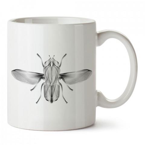 Surreal Flight sinek baskılı tasarım porselen kupa bardak (mug). Presstish marka resimli hediyelik kupa bardak modeli. Tasarım kahve kupası. Baskılı mug.