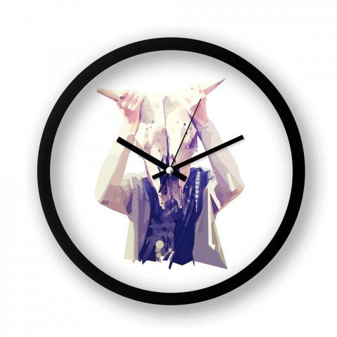 Nondiagnostic resimli duvar saati. Presstish tasarım baskılı duvar saati. Siyah çerçeveli dekoratif duvar saati. En güzel duvar saatleri. Hediyelik şık duvar saati.
