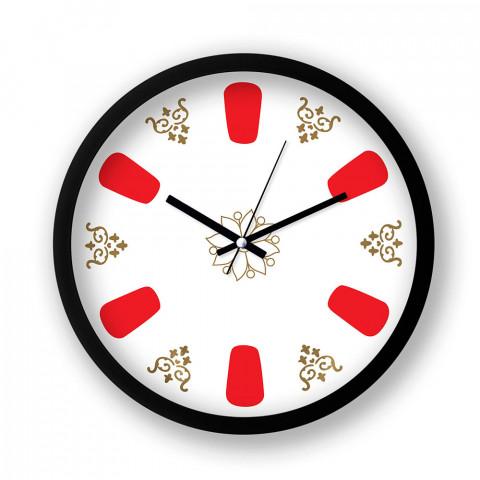 Turkish Tea Time resimli duvar saati. Presstish tasarım baskılı duvar saati. Siyah çerçeveli dekoratif duvar saati. En güzel duvar saatleri. Hediyelik şık duvar saati.