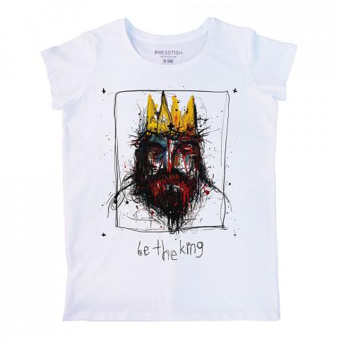 Be The King baskılı tasarım tişört. %100 pamuklu baskılı bayan tişört. Presstish tasarım baskılı tişört çeşitleri. Hediyelik kadın tişört. Tişört baskı. Baskılı tshirt.
