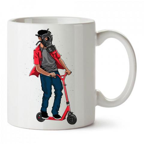 Defend The Park Parkı Koru baskılı tasarım porselen kupa bardak (mug). Presstish marka resimli hediyelik kupa bardak modeli. Tasarım kahve kupası. Baskılı mug.