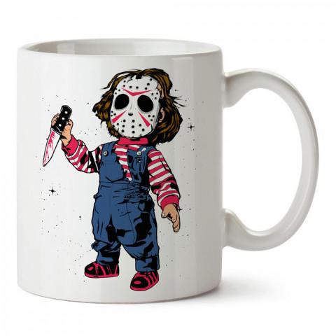 Hug To Chaki, Çakiyi kucakla baskılı tasarım porselen kupa bardak (mug). Presstish marka resimli hediyelik kupa bardak modeli. Tasarım kahve kupası. Baskılı mug.