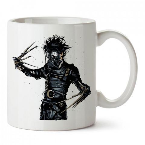 Edward Scissorhands In Park makas eller baskılı tasarım porselen kupa bardak (mug bardak). Presstish marka resimli hediyelik kupa bardak modeli. Tasarım kahve kupası.
