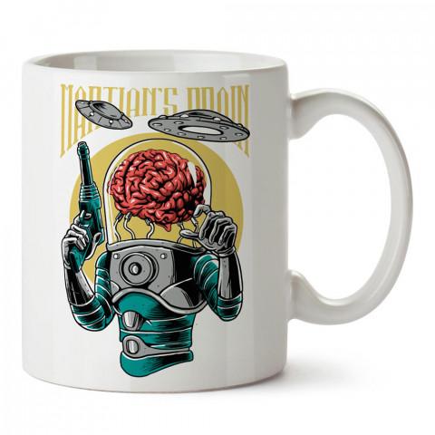 Brain Infestation istilacı uzaylılar baskılı tasarım porselen kupa bardak (mug). Presstish marka resimli hediyelik kupa bardak modeli. Tasarım kahve kupası. Baskılı mug.