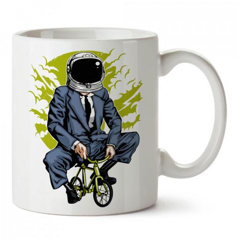 Monday Morning Pazartesi Sabahı baskılı tasarım porselen kupa bardak (mug). Presstish marka resimli hediyelik kupa bardak modeli. Tasarım kahve kupası. Baskılı mug.