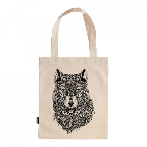 Abstract Wolf tasarım baskılı ham bez çanta. 35x41. Hediyelik bez çanta modelleri. En güzel bez çantalar. Dayanıklı, modaya uygun bez çantalar. Organik baskılı bez çanta.