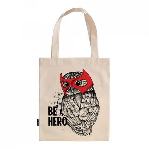 Be A Hero tasarım baskılı ham bez çanta. 35x41. Hediyelik bez çanta modelleri. En güzel bez çantalar. Dayanıklı, modaya uygun bez çantalar. Baykuş desenli bez çanta.