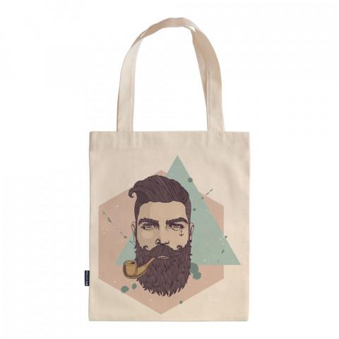Bearded Hipster tasarım baskılı ham bez çanta. 35x41. Hediyelik bez çanta modelleri. En güzel bez çantalar. Dayanıklı, hipster bez çantalar. Organik baskılı bez çanta.