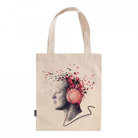 Crystal Music tasarım baskılı ham bez çanta. 35x41. Hediyelik bez çanta modelleri. En güzel bez çantalar. Dayanıklı, modaya uygun bez çantalar. Organik baskılı bez çanta.