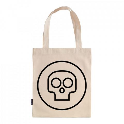 Mini Skull tasarım baskılı ham bez çanta. 35x41. Hediyelik bez çanta modelleri. En güzel bez çantalar. Dayanıklı, kuru kafalı bez çantalar. Organik baskılı bez çanta.