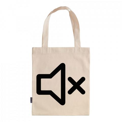 No Voice tasarım baskılı ham bez çanta. 35x41. Hediyelik bez çanta modelleri. En güzel bez çantalar. Dayanıklı, modaya uygun bez çantalar. Organik baskılı bez çanta.