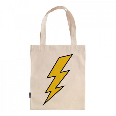 Thunder tasarım baskılı ham bez çanta. 35x41. Hediyelik bez çanta modelleri. En güzel bez çantalar. Dayanıklı, organik, modaya uygun bez çanta. Şimşek baskılı bez çanta.