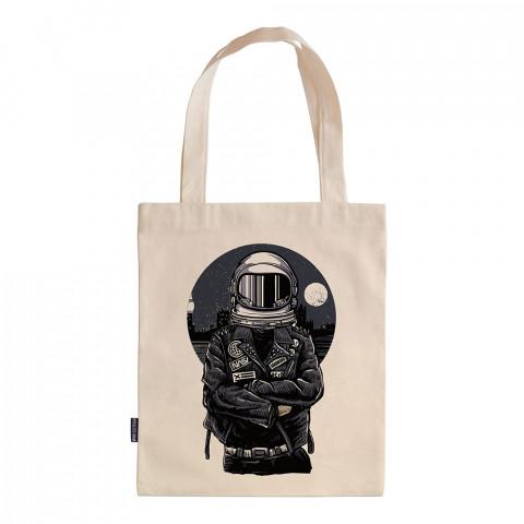 Nasa Biker tasarım baskılı ham bez çanta. 35x41. Hediyelik bez çanta modelleri. En güzel bez çantalar. Dayanıklı, modaya uygun bez çantalar. Astronot baskılı bez çanta.