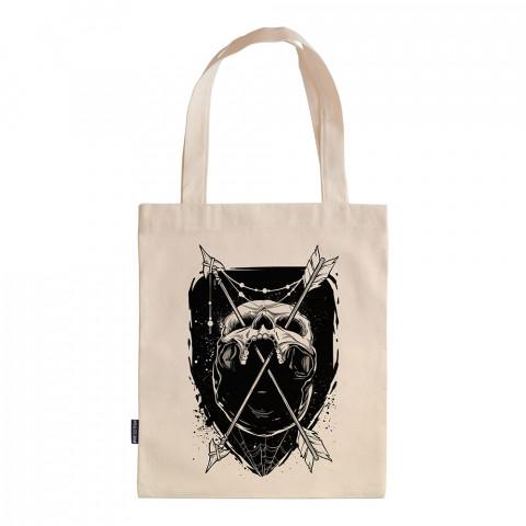 Skull Trap tasarım baskılı ham bez çanta. 35x41. Hediyelik bez çanta modelleri. En güzel bez çantalar. Dayanıklı, modaya uygun bez çantalar. Kuru kafalı bez çanta.