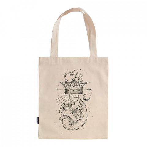 Crown Ambition tasarım baskılı ham bez çanta. 35x41. Hediyelik bez çanta modelleri. En güzel bez çantalar. Dayanıklı, modaya uygun bez çanta. Organik baskılı bez çanta.