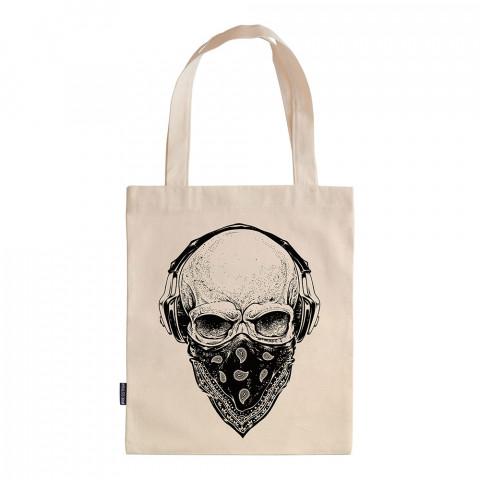 Gangsta Skull tasarım baskılı ham bez çanta. 35x41. Hediyelik bez çanta modelleri. En güzel bez çantalar. Dayanıklı, modaya uygun bez çantalar. Organik baskılı bez çanta.
