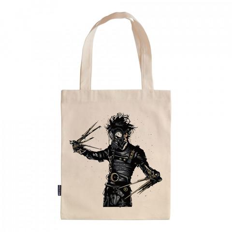 Edward Scissorhands In Park tasarım baskılı ham bez çanta. 35x41. Hediyelik bez çanta modelleri. En güzel bez çantalar. Makas Eller desenli bez çantalar.