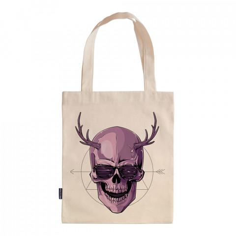Disco Devil tasarım baskılı ham bez çanta. 35x41. Hediyelik bez çanta modelleri. En güzel bez çantalar. Dayanıklı, kuru kafa desenli bez çanta. Organik baskılı bez çanta.