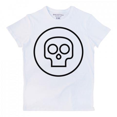Mini Skull kuru kafa baskılı tasarım tişört. %100 pamuklu baskılı tişört. Presstish organik erkek tasarım baskılı tişört. Hediyelik tasarım tshirt. Tişört baskı.