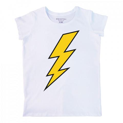 Thunder baskılı tasarım tişört. %100 pamuklu baskılı bayan tişört. Presstish tasarım baskılı tişört. Hediyelik kadın tişört. Tişört baskı. Baskılı tasarım tshirt.