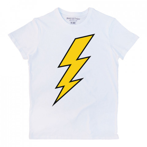 Thunder şimşek baskılı tasarım tişört. %100 pamuklu baskılı tişört. Presstish organik erkek tasarım baskılı tişört çeşitleri. Hediyelik tasarım tshirt. Tişört baskı.