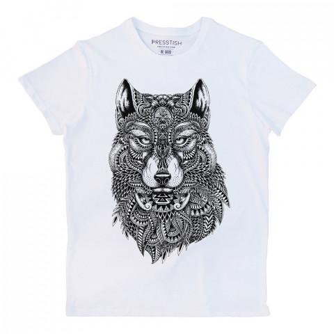 Abstract Wolf baskılı tasarım tişört. %100 pamuklu baskılı tişört. Presstish organik erkek tasarım baskılı tişört çeşitleri. Hediyelik tasarım tshirt. Tişört baskı.