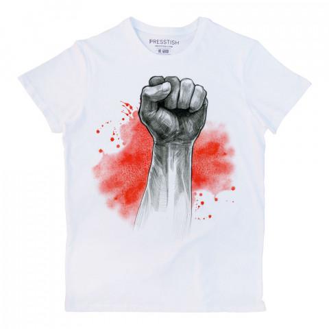 Red Victory baskılı tasarım tişört. %100 pamuklu baskılı tişört. Presstish organik erkek tasarım baskılı tişört çeşitleri. Hediyelik tasarım tshirt. Tişört baskı.