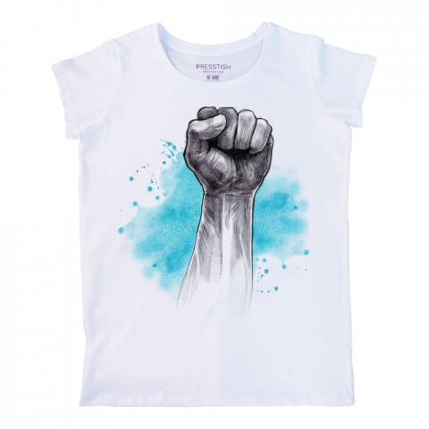 Blue Victory baskılı tasarım tişört. %100 pamuklu baskılı bayan tişört. Presstish tasarım baskılı tişört. Hediyelik kadın tişört. Tişört baskı. Baskılı tasarım tshirt.