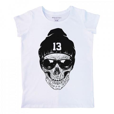 RNB Skull baskılı tasarım tişört. %100 pamuklu baskılı bayan tişört. Presstish tasarım baskılı tişört. Hediyelik kadın tişört. Tişört baskı. Baskılı tasarım tshirt.