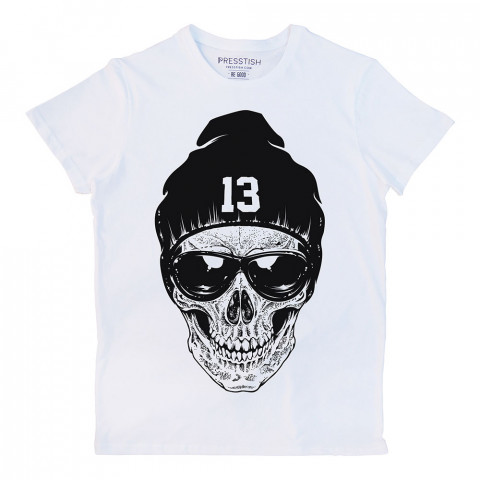 RNB Skull baskılı tasarım tişört. %100 pamuklu baskılı tişört. Presstish organik erkek tasarım baskılı tişört çeşitleri. Hediyelik tasarım tshirt. Tişört baskı.