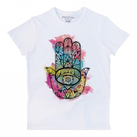 Fatıma's Hand (Colored) baskılı tasarım tişört. %100 pamuklu baskılı tişört. Presstish erkek tasarım baskılı tişört çeşitleri. Hediyelik tasarım tshirt. Tişört baskı.