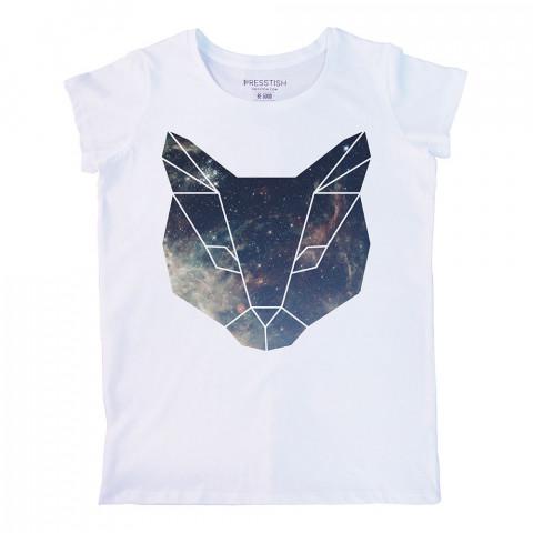 Space Cat baskılı tasarım tişört. %100 pamuklu baskılı bayan tişört. Presstish tasarım baskılı tişört. Hediyelik kadın tişört. Tişört baskı. Baskılı tasarım tshirt.