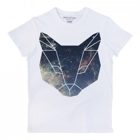 Space Cat baskılı tasarım tişört. %100 pamuklu baskılı tişört. Presstish organik erkek tasarım baskılı tişört çeşitleri. Hediyelik tasarım tshirt. Tişört baskı.