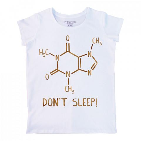 Caffeine Molecule baskılı tasarım tişört. %100 pamuklu baskılı bayan tişört. Presstish tasarım baskılı tişört. Hediyelik kadın tişört. Tişört baskı. Baskılı tshirt.